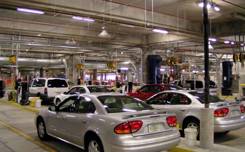 Car rental at Tampa Airport, USA