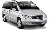 Mercedes Viano car rental at Al Maktoum Airport, UAE