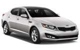 Kia Optima car rental at Al Maktoum Airport, UAE