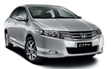 Honda City car rental at Al Maktoum Airport, UAE