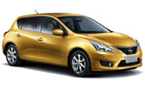 Nissan Tiida car rental at Al Maktoum Airport, UAE
