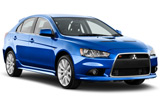 Mitsubishi Lancer car rental at Al Maktoum Airport, UAE