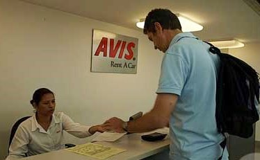 AVIS car rental desk at Bangkok - Suvarnabhumi Airport, Thailand