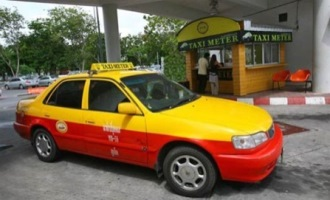 Taxi at Phuket Airport, Thailand