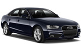 Audi A4 car rental at Glasgow, UK