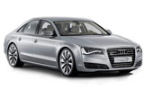 Audi A8 Quattro car rental at Frankfurt, Germany