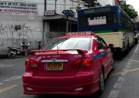 Taxi at Bangkok - Suvarnabhumi Airport, Thailand