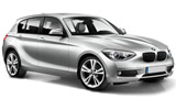 BMW 118 car rental at Barcelona, Spain