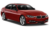 BMW 3 series car rental at Bordeaux Airport, France
