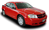 Dodge Avenger car rental at Los Angeles, USA