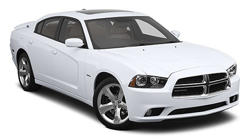 Dodge Charger car rental at Hilo, Hawaii