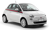 Fiat 500 car rental at Heathrow, UK