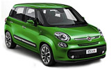 Fiat 500L car rental at Barcelona, Spain
