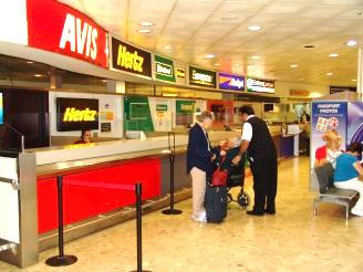 Car rental at Heathrow, UK