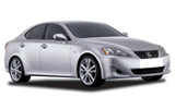 Lexus IS 250 car rental at Cape town Airport, South Africa