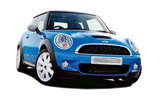 Mini Cooper S Convertible car rental at Bilbao, Spain