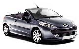 Peugeot 207 Convertible car rental at Faro, Portugal