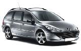 Peugeot 307 Estate car rental at Faro, Portugal