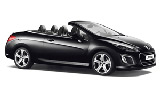 Peugeot 308 Convertible car rental at Bilbao, Spain