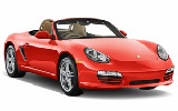 Porsche Boxter Convertible car rental at Heathrow, UK