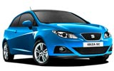 Seat Ibiza car rental at Girona, Spain