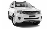 Toyota Fortuner car rental at Cape town Airport, South Africa