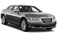 Chrysler 300 car rental at Calgary Airport, Canada