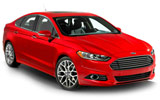 Ford Fusion car rental at Calgary Airport, Canada