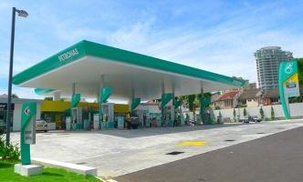 Fuel stations around Kuala Lumpur Airport, Malaysia