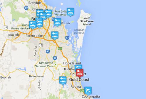 Car rental at Gold Coast Airport, Australia