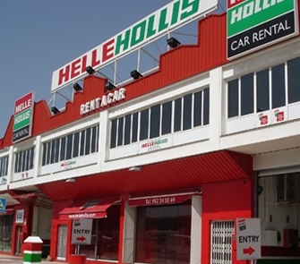 Helle Hollis car rental at Malaga Airport, Spain