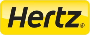 Hertz car rental at Edinburgh Airport, UK