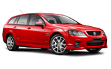 Holden Commodore Stationwagon car rental at Auckland Airport, New Zealand