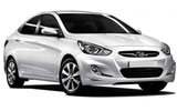 Hyundai Accent car rental at Denver Airport, USA