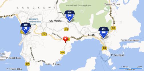 Car rental at Langkawi Airport, Malaysia