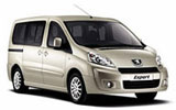 Peugeout minivan car rental at Palermo Airport, Italy