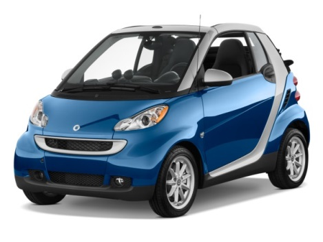 Smart ForTwo car rental at Malaga Airport, Spain