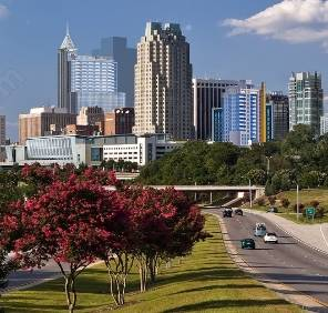 Raleigh in North Carolina car rental, USA