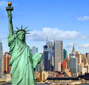 Manhattan in New York car rental, USA